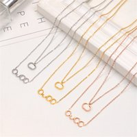 Ladies Fashion Classic Letter Necklace with Box Charm Exquisite Chain Women Men Personalized Pendant Necklaces Gift Iced Jewelry
