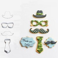 Baking Moulds 1pcs Hat Beard Glasses Metal Cookie Cutter Cookies Stamp Patisserie Biscuit Mold Fondant Cupcake Pastry Tools Reposteria