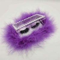 Portatile piume lash box perla rettangolo ciglia ciglia scatola di imballaggio scatola regalo acrilico 9 colori moda imballaggio forniture 532 v2