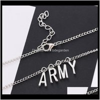 Pendant Necklaces & Pendants Jewelry Drop Delivery 2021 Proof Youth League Fan Name Army Alphabet Necklace Ps0720 A0Jap