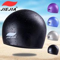 2021 sílica gel natação tampão cor pura impermeável, respirável BB333 confortável sílica gel revestido boné fábrica suprimentos homens e mulheres adultos