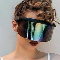 Outdoor Eyewear Cycling Sunglasses Oversized Visor Wrap Shield Large Mirror Sun Glasses Ant-UV 400 Half Face Guard