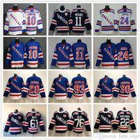 New York Rangers Hockey Jersey 10 Artemi Panarin 24 Kaapo Kakko Henrik Lundqvist Mika Zibanejad Messier Chris Kreider Brady Skjei Rick Nash