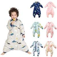 طفل فور سيزونز 25-36 متر sleepsacks الاطفال الحرارية سبليت الساق كيس النوم حقيبة طويلة النوم للفتيات الفتيات 210908