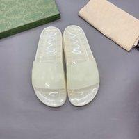 Sheer Logo Diapositives Designer Luxe Femmes Femmes Hommes Pantoufles Transparent Jelly Couple Sandales Sandales d'été Mode Chaussures de mode Qualité supérieure avec boîte Taille 36-46 Topsports supérieurs