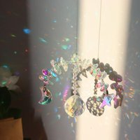 Decorações de jardim Cor Cristal Sunshade Lua Estrela Pendurado Metal Pingente de Casa Ornaments Janela Casamento Decoração