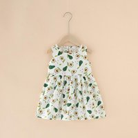 Girl's Dresses 0-5Years Baby Girls Sleeveless Princess Summer Kids Floral Printed Dress Girl Pure Cotton Children Clothing