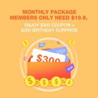 월간 패키지 회원은 $ 19.9만이 필요합니다. $ 300 쿠폰 + $ 200 생일 깜짝 즐기십시오.