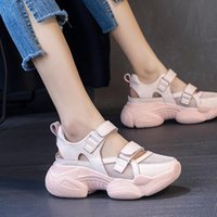 Sandals Platform Summer Sneakers Women Casual Sports Shoes Breathable Mesh Cloth For Outdoor High Heels Wedges