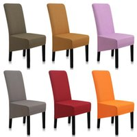 Chair Covers Spandex Solid Color Dining Anti-dirty Stretch Cover Kitchen A45008