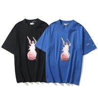 여름 Kanye West Mens High-Street T 셔츠 대형 티 스케이트 보드 Tshirt 남자 여성 예수님의 레이디 고품질 탑스 짧은 소매