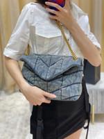Louou Puffer Denim Handtaschen Geldbörse Crossbody Messenger Schultertaschen Lou Chain Designer Tasche Gute Qualität Geldbörsen bereit zu versenden