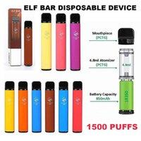 Elf Bar 1500 Puffs E Cigarette Disposable Vape Pod Device 850mAh Battey 4.8ml Pods 5% Strength 9 Colors Vaporizer vs puff air bang xxl plus