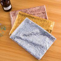 Polyester Solid Color Table Runner Gold Silver Seailin Tovaglia Panno Sparkly Bling Tovaglia di nozze Tablecloth Party Decorazione Forniture OWF10533