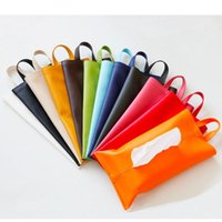 Jewelry Pouches, Bags Leather Car Tissue Box Portable Hanging Toilet Paper Napkin Storage Bag Button Lanyard Colorful Packaging