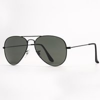 Mens Pilot Sunglasses Fashion Womens Sunglass Vintage Aviation Sun Glasses UV Protection Glass Lenses Eyeware Design Eyeglasses for Man Woman Accessories