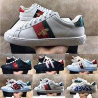 Yüksek Kaliteli Erkek Rahat Ayakkabılar Beyaz ACE Yeşil Kırmızı Şerit İtalya Arı Tiger Yılan Kadın Sneaker Eğitmen Chaussures Kutusu Ile Hommes Pour