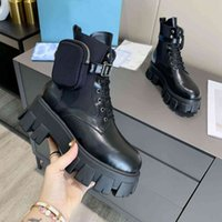 2021 женские дизайнеры Rois Boots Ankle Martin Boot и нейлоновые военные вдохновлены бойными ботинками нейлоновые мешочек прикреплены к лодыжке с коробкой