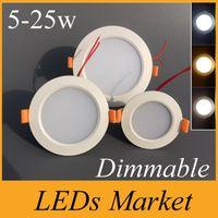 LED-Downlight Dimmable 5W 7W 9W 12W 15W 18W 21W 24W 30W Einbauleuchte Lampenfleck Lights110-240V Warme Kälte White Ce ul Downlights