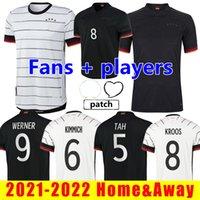 2021 2022 Germania Versione giocatore Germania Piantine di calcio Fans Hummels Kroos Gnabry Werner Draxler Reus Muller Gotze Coppa europea Camicia da calcio Dimensione S-XXL