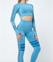 Chándal de moda para mujer Set de dos piezas Conjunto de cultivos Tops Traje Trajes Pantalones de yoga Pantalones Gimnasio Desgaste de la cintura alta Leggings Deportes Ropa Elástica Fitnes