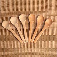 Деревянные джема ложка детские медовые ложки мини кофе совок нежная кухня с использованием приправа около 12,8 * 3см
