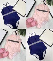 الفتيات قطعة واحدة ملابس الصيف أطفال مصمم الملابس بيكيني شاطئ المايوه طفلة ملابس الأطفال بحر