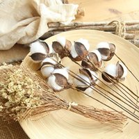 Nordic Dried Cotton Flowers Natural Stems Flower For Home Bar Shop Decoration Wedding 23 Inches Decorative & Wreaths