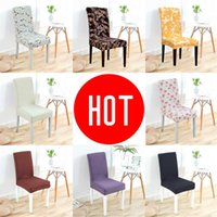 Chair Covers Spandex Cover Solid Color Stretch Elastic Slipcovers Printing Dining For Kitchen Wedding El