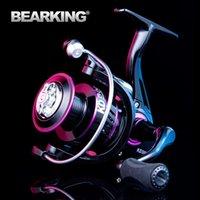 Pesca de carrete de metal Spinning 10kg MAX Drag Alojamiento de acero inoxidable Línea Accesorios de agua salada BaitCasting Reels