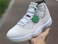 النسخة عالية jumpman 11 البلاتين تينت أحذية كرة السلة ألياف الكربون الحقيقي الأبيض 11 ثانية تشغيل أحذية رياضية الرجال الرياضة يأتي مع مربع