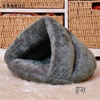New Pet Dog Cat Cave Igloo Bed Basket House Kitten Soft Cozy Indoor Cushion Kennel Hot T200618