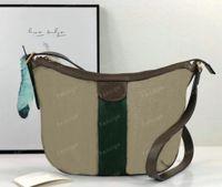Офидия Пельмени Semilunar Bag Classic Holvas Bags Crossbody Женщины Howhide Кожаный Кошелек Муцсмешок Сумки с красной и Зеленой
