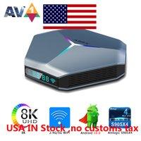 Schip uit de VS A95X F4 AMLOGIC S905X4 RGB Licht TV Box Android 10 4G 32GB Ondersteuning Dual WiFi 8K