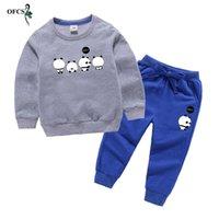 Abbigliamento Set Girls Autunno Toddler Toddler Cartoon T-Shirt Top + Pantaloni Bambini Tracksuit sportivo per il ragazzo Costumi di cotone Vestito per bambini