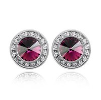 Stud Austrian Crystal Earrings Daily Leisure Jewelry Accessories For Women Fashion Brand