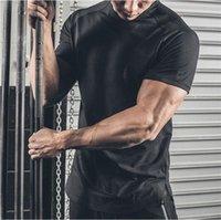 ASRV Fitness Hızlı Kuruyan T-shirt Buz Ipek Koşu Ince T Kısa Kollu Sıkı Eğitim Atletik Giyim Erkek Yüksek Elastik Ter Emici Su