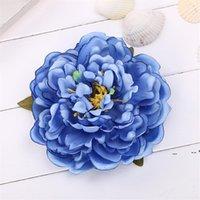 14 cm peonia fiore testa di seta artificiale grandi fiori per accessori per capelli bohémien wedding fai da te corona decorativa decorativa floreale floreale fwd5597