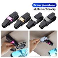Cell Phone Mounts & Holders FONKEN Car Eyeglass Holder Glasses Card Storage Clip For Auto Sun Visor Interior Organize Accessories Sunglasses