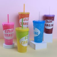 650ml Color Changing PP Plastic Cup Reusable Party Water Bev...