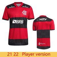 Versão do jogador CR 2021 2022 Flamengo Diego Home Soccer Jersey Flamenco Camisetas de Fútbol Gabriel B. 21 22 Pedro Gerson Flamenco Camisa Futebol