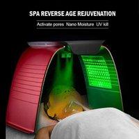 7 Farbe LED Haut Verjüngung Gesichtsmaske Lichttherapie Anti Akne Gesichtsmaschinenentfernung EXTIATING Feuchtigkeitsdauer Sauerstoff Spray Beauty Ausrüstung