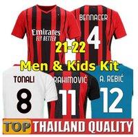 Çocuklar Futbol Jersey Kitleri Gömlek Ibrahimovic Milano Çocuk Kısa Kollu Formalar Gençlik Spor 20 21 22 Eve Uzakta Oyun Futbol Gömlek Setleri Ücretsiz Çorap