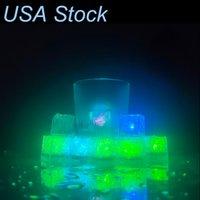 Le luci subacquee Cartone flash flash cubetto di ghiaccio si attiva all'acqua LED luce messo in acqua bevanda per la festa di nozze barre di Natale USA Stock stock Crestech888