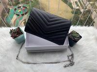 Bolsas de envelope de aba acolchoada bolsas de ombro do corpo cruzam mulheres marca luxurys designers cadeia bolsa de mulher bolsa