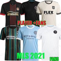 MLS 2021 2022 Los Angeles La Galaxy Inter Miami CF Futebol Jerseys 21 22 Higuain Beckham New York City Atlanta United LaFC Montreal Futebol Camisas Fans Player Version