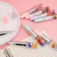 Gel Pens (4 Pieces Lot) Lipstick Pen Girlish Primary School Creative Shape Signature Student Gift