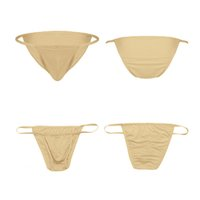 Sexy Man's Panties Erotic Lingerie Solid Sex Underwear Thong Mens Stretch Bulge Pouch Bikini Briefs Porn G-string Gay Underpants