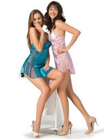 Women's Sleepwear Sexy And Soft Design Bright Color Satin Fabric