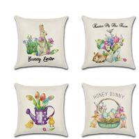 Cushion Decorative Pillow 45*45cm Linen Sofa Cushion Cover Home Decoration Plant Leaves Bed Decor Decorative Pillowcase